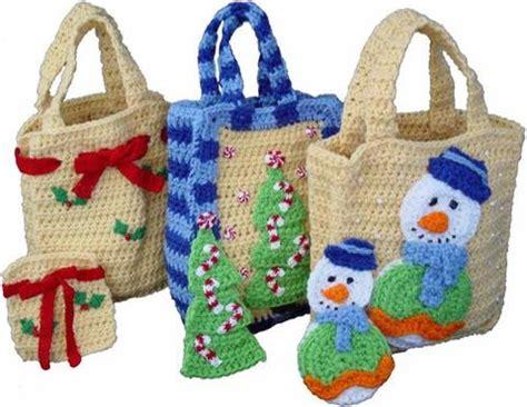 crochet christmas gift bag pattern free crochet patterns