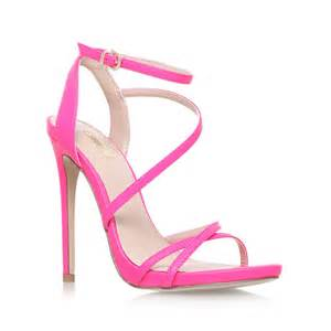 Carvela kurt geiger georgia high heel strappy sandals in pink lyst