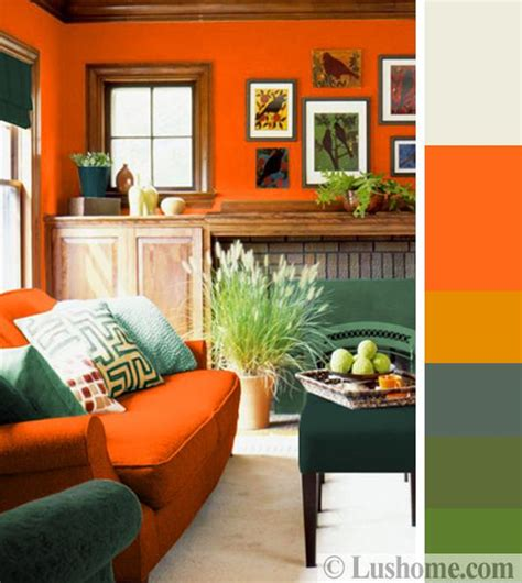 green color schemes for living room stylish orange color schemes for vibrant fall decorating
