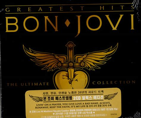 Cd Original Bon Jovi Greatest Hits The Ultimate Collection bon jovi greatest hits the ultimate collection korean 2 cd album set cd 555383