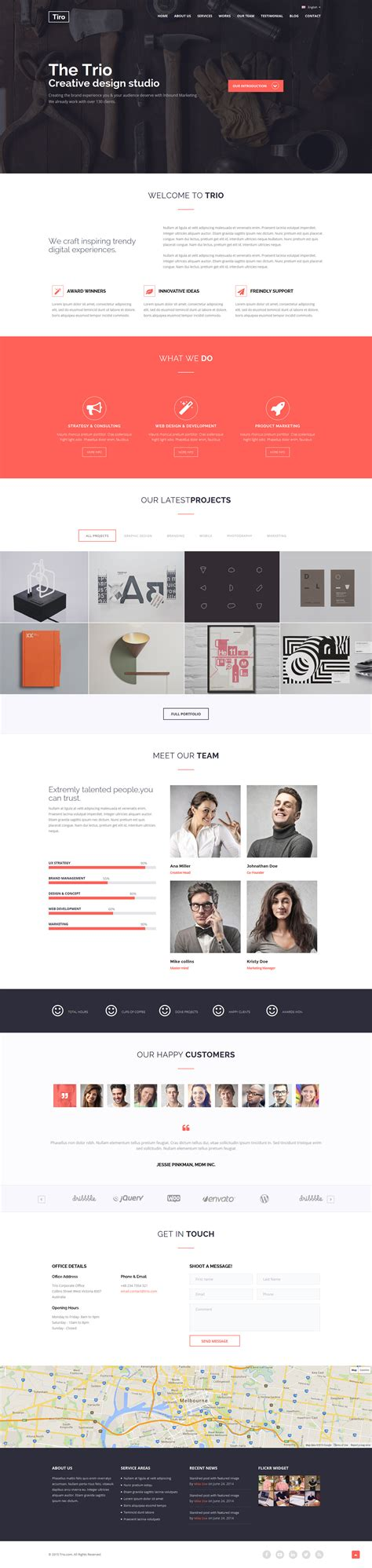 trio bootstrap responsive multipurpose template by