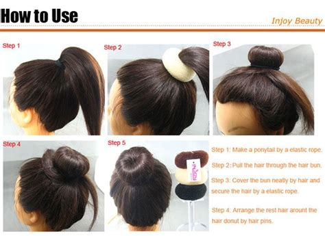 how to use a hair bun ring how to hair bun recherche google chevelure pinterest