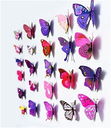 New Wallsticker 3d Butterfly 3d butterfly wall stickers only 1 40 free shipping