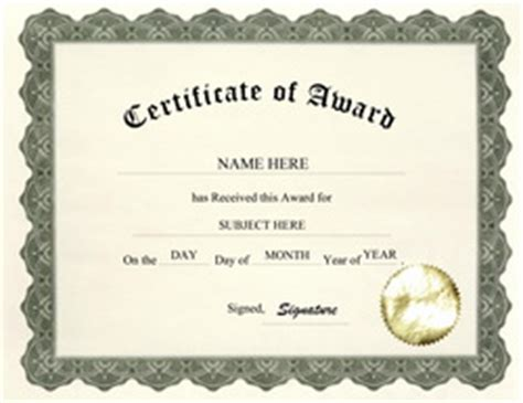 5  Free Award Certificate Templates   Excel PDF Formats