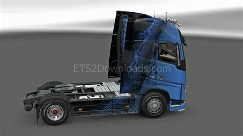 2012 volvo truck blueblack skin for volvo fh 2012 euro truck simulator 2 mods