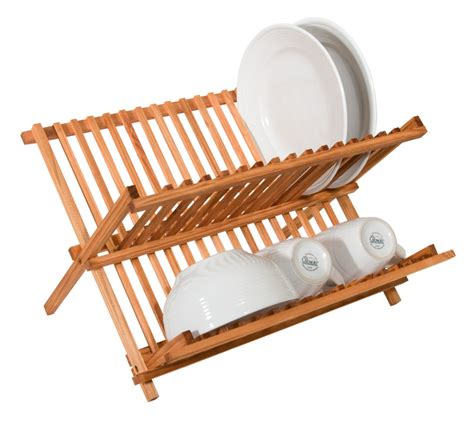Wooden Dish Racks by New Pine Wood Fold Up Dish Rack Drainer Compact Sturdy
