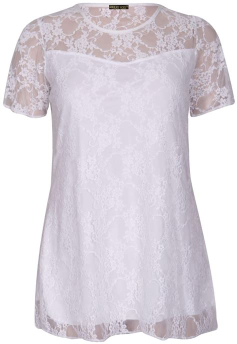 New Pakaianonline Tunic Termurah 1 new curve floral lace lined tunic tops 14 28