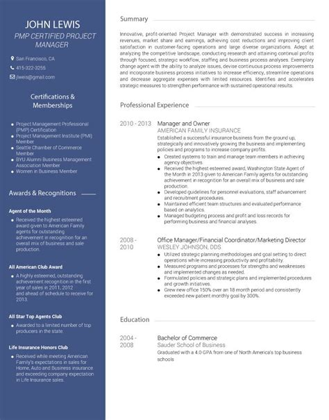 American Cv Template by Cv Builder And Professional Resume Cv Maker Visualcv