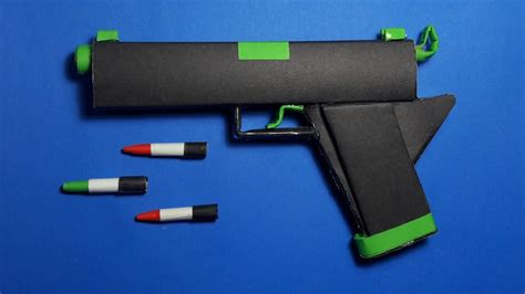 How To Make A Paper Shotgun That Shoots - origami how to make a paper gun origami