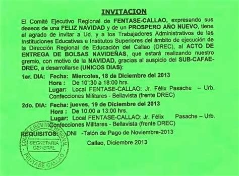 normas legales 30122015 miercoles 30 de diciembre de fentase callao 161 actividad navide 209 a fentase callao sub