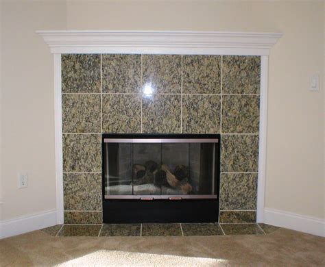granite tile fireplace surround fireplace design ideas