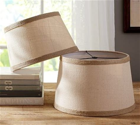 Small Burlap L Shade by Burlap Contrast Trim Tapered Drum L Shade Small Traditional L Shades By