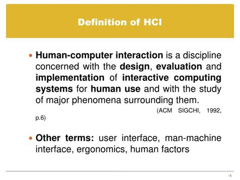 design evaluation definition ppt human computer interaction introduction to hci