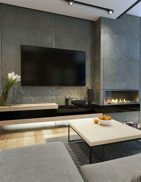 modern  minimalist tv wall decor ideas home design