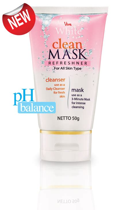 Viva White Clean Mask Refreshner For All Skin Types what s new on viva cosmetics clean mask refreshner for all skin types you can try n feel the