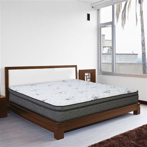 queen size pillow top bed pillow top queen size mattress in white otr3 1050
