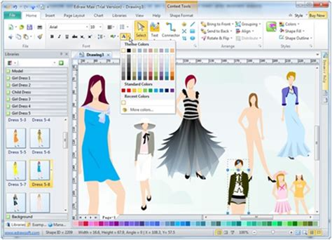 cad pattern design software free edraw max makes fashion design easier style2designer