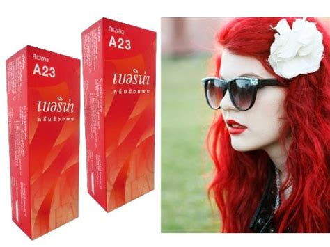 red hair dye box berina permanent hair color dye berina a23 bright red