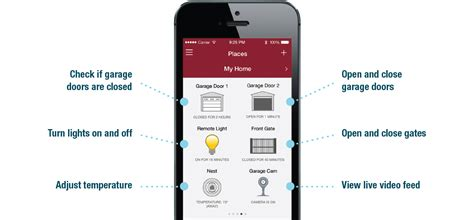 Myq Connected Home Liftmaster Myq Garage Door Opener App