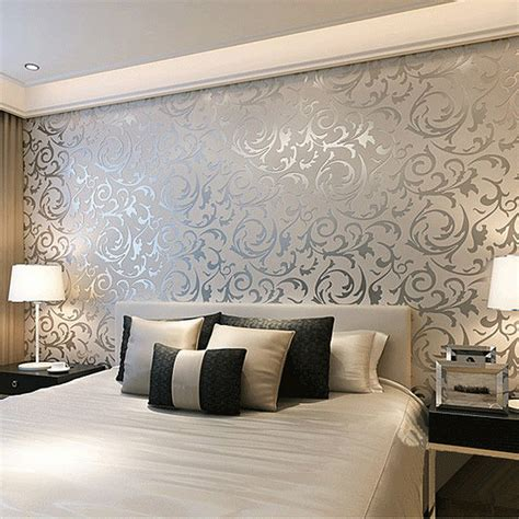 wallpaper on bedroom walls wallpapers bedroom walls home design