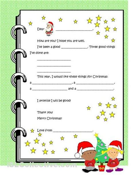 dear santa template kindergarten letter pin by davis on