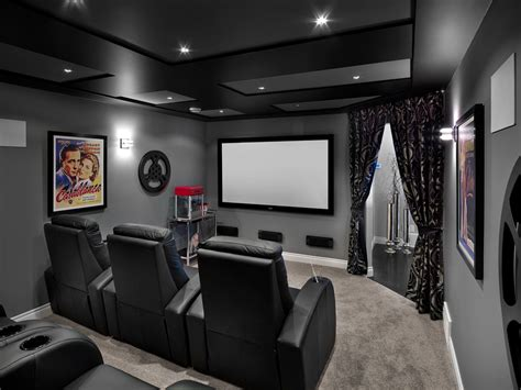 theater room decor home theater transitional with
