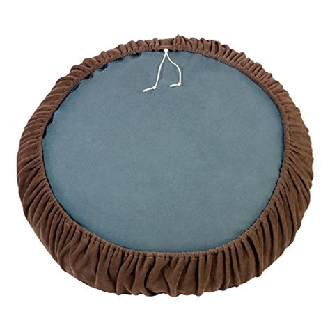 round dog bed cover waggletops dog bed cover sheet beardog brown fleece