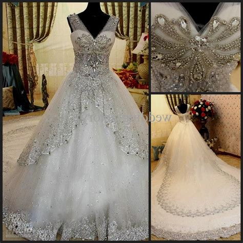 white wedding dresses with bling Naf Dresses