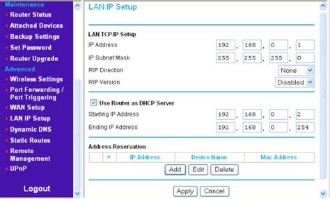configurare ip wireless image gallery netgear router ip address