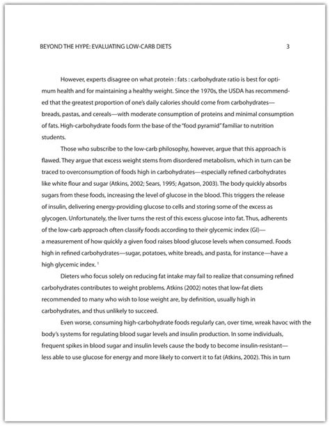 proper format for a research paper developing a draft of a research paper