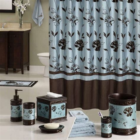 blue brown bathroom decor blue brown bathroom ideas oval white free standing