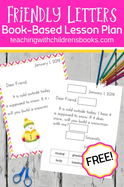 resources write friendly letter kids