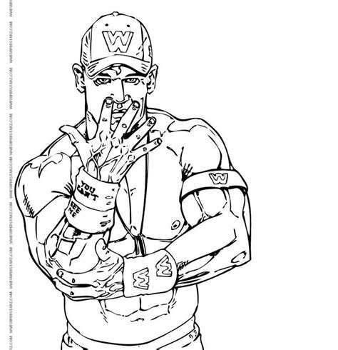 Cena Coloring Page John Cena Coloring Page Coloring Home