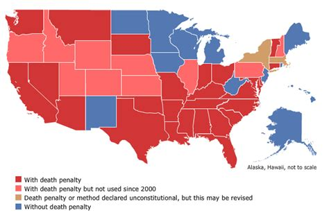 map of us states that the penalty statistical research the penalty