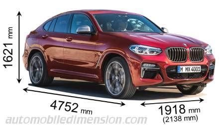 bmw x4 2018 dimensions, boot space and interior