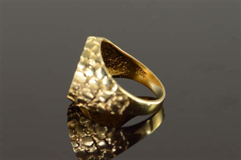 14k 6 9g 1945 mexican 2 peso nugget yellow gold ring size