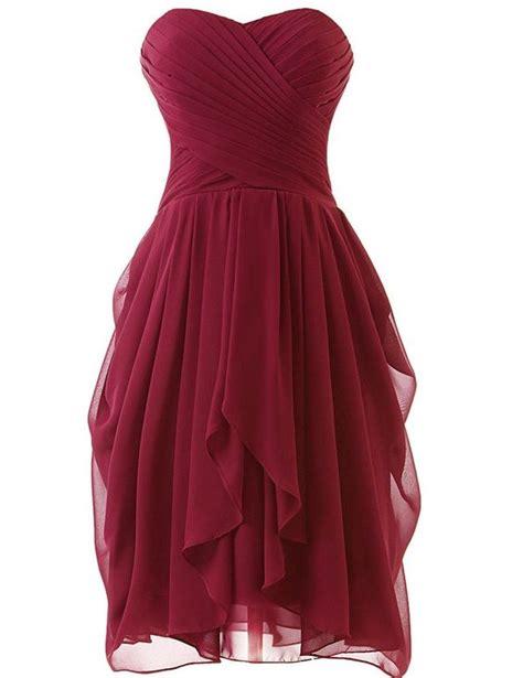 high quality handmade short burgundy prom dresses