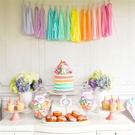 Rainbow Birthday Decorations by Best 25 Rainbow Unicorn Ideas On