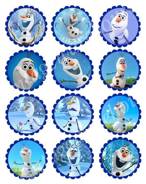 printable frozen toppers olaf frozen cupcake topper printable valentine s idea