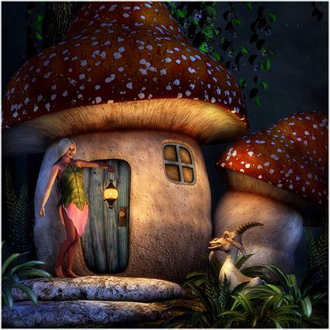 mushroom fairy house mushroom fairy house 3d models rpublishing
