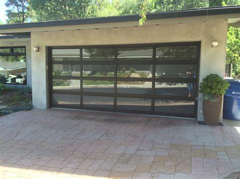 aluminum glass garage doors wood residential