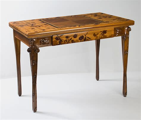 Decorative End Tables French Art Nouveau Games Table By Louis Majorelle