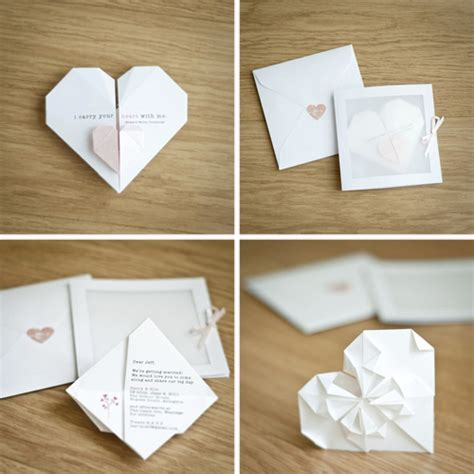 Origami Wedding Invitation - origami 4 goh li