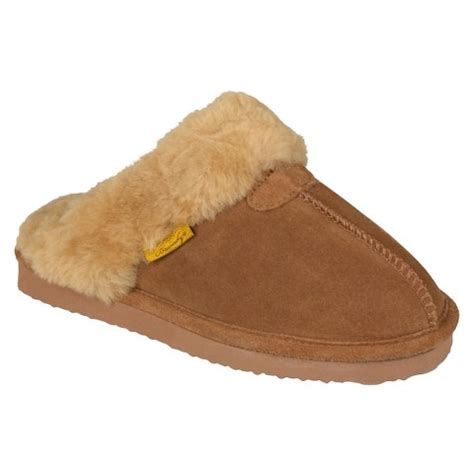 target slippers s brumby 174 shearling scuff slippers target