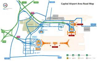 beijing international airport map beijng airport layout map