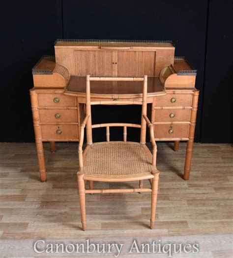 writing desk and chair set regency bamboo desk and chair set writing
