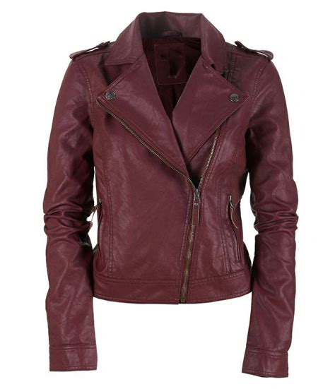 jacket color leather jacket maroon color biker leather jacket