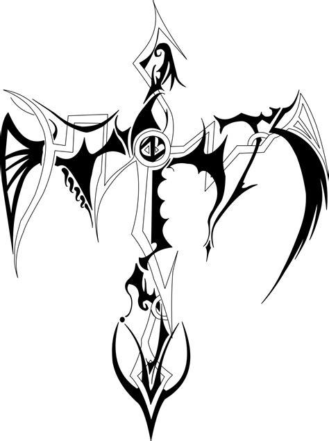 Amazing Design Amazing Tribal Cross Tattoo Design
