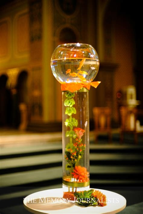 goldfish bowl centerpieces or colorful beta fish how