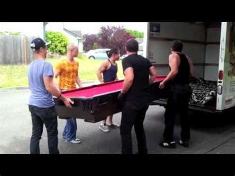 move  pool table youtube